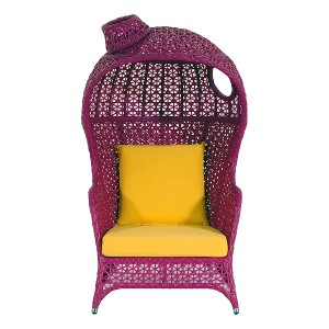 Pollara Modern Outdoor Chair-Pink