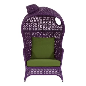 Pollara Modern Outdoor Chair - Purple
