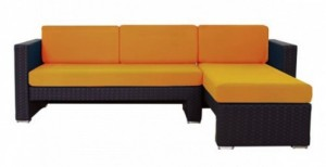 Cantoni modern outdoor furniture orange Linear Sectional