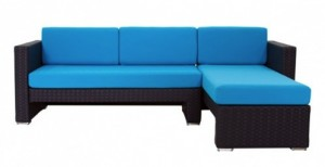 Cantoni modern outdoor furniture blue and aqua  Linear Sectional