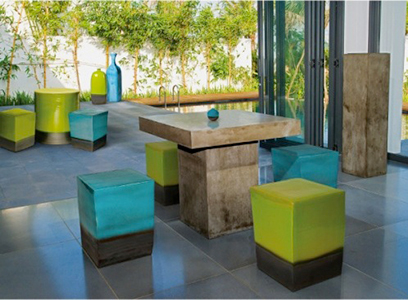 Provence Table and Stools Cantoni Modern outdoor furniture