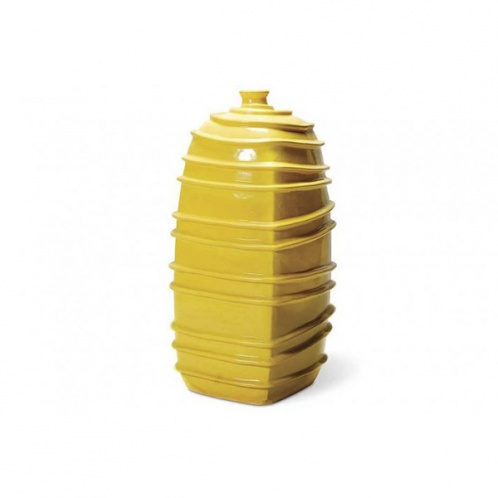 Ribbed Square Bottom Jar-Cantoni Modern Furniture-Yellow inspired rooms