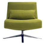 Hugo Swivel Modern Chair by American Leather