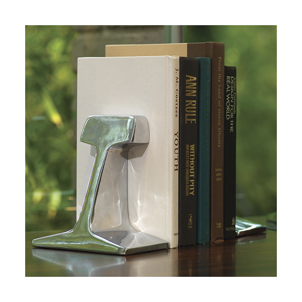 Rail Road Track Bookends-Beautiful bookshelves-Cantoni modern furniture