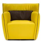 Gamma Tulip Chair-Cantoni Modern Furniture-Yellow inspired rooms
