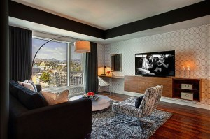 Midcentury modern meets Hollywood glam at the W Hollywood-Kyle Spivey-Cantoni