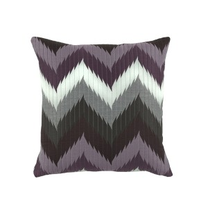 Chevron Purple Pillow-Cantoni Furniture