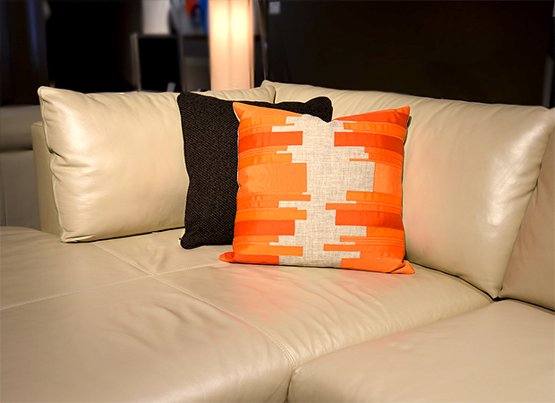 Hudson Ribbon Accent Pillow-Fall Trends-Cantoni Modern Furniture