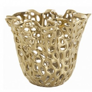 Alma Perforated Vase-Cantoni modern furniture-metallics