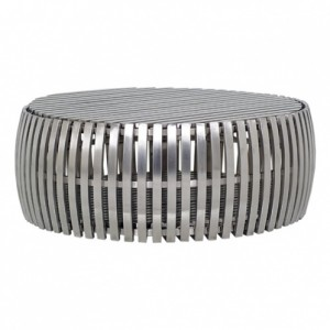 Barrel Cocktail Table-Cantoni modern furniture-metallics