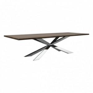 Spyder Dining Table-chrome legs-metallics-