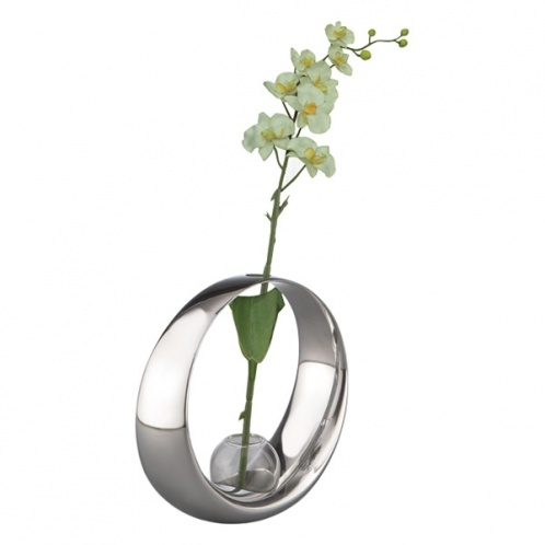 92449-Globe Bud Vase with Orchid