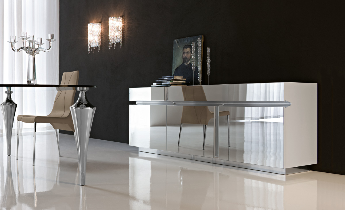 mirrored furniture-Prisma sideboard