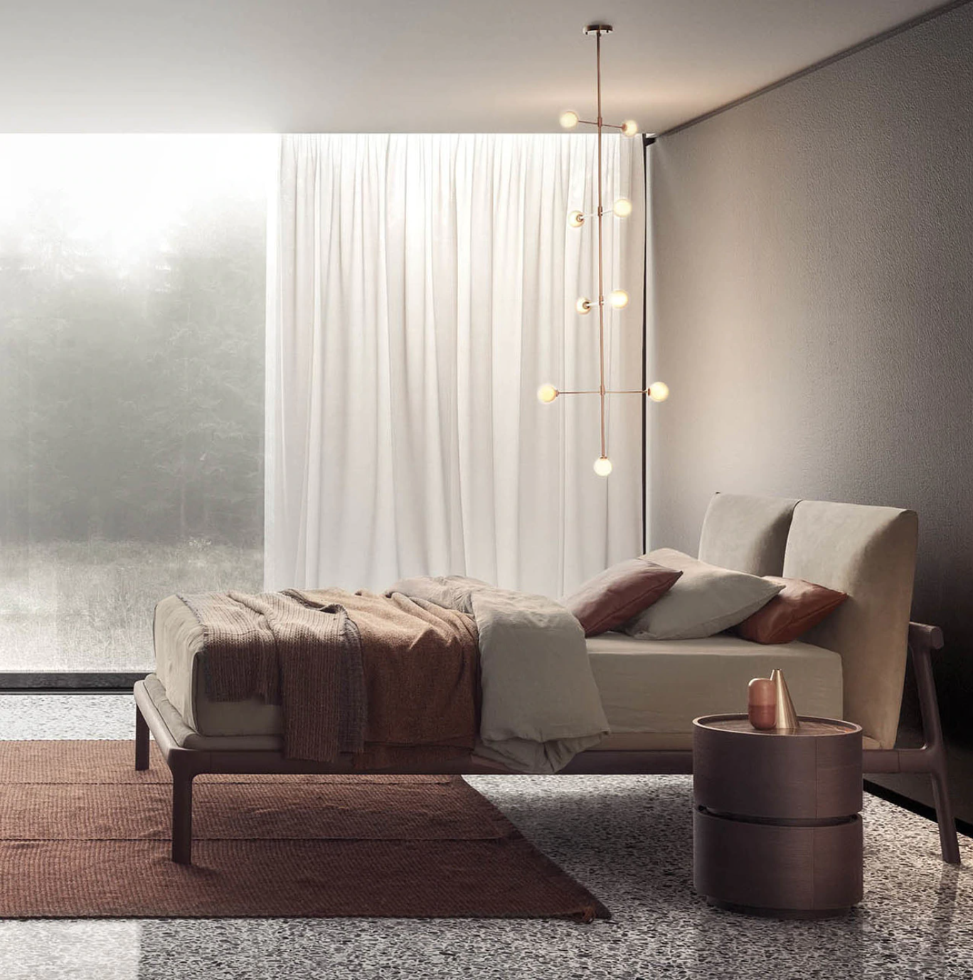 Fushimi King Bed by Pianca